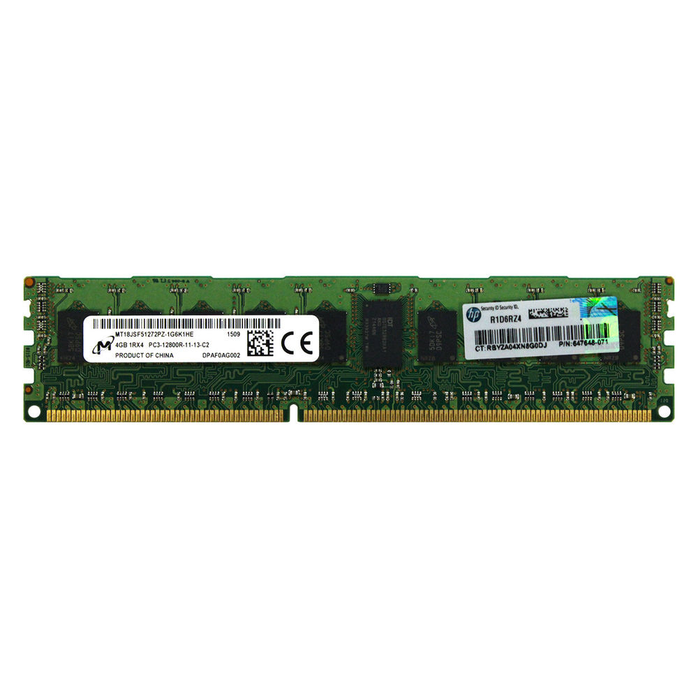 HP 647895R-B21 4GB 1600 MHZ DDR3 ECC SERVER RAM