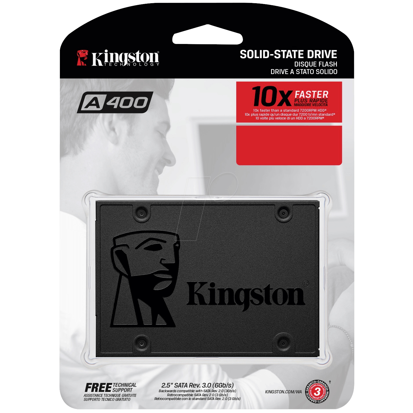KINGSTON A400 120GB 500/350MB/s 7mm SATA 3.0 SSD SA400S37/120G