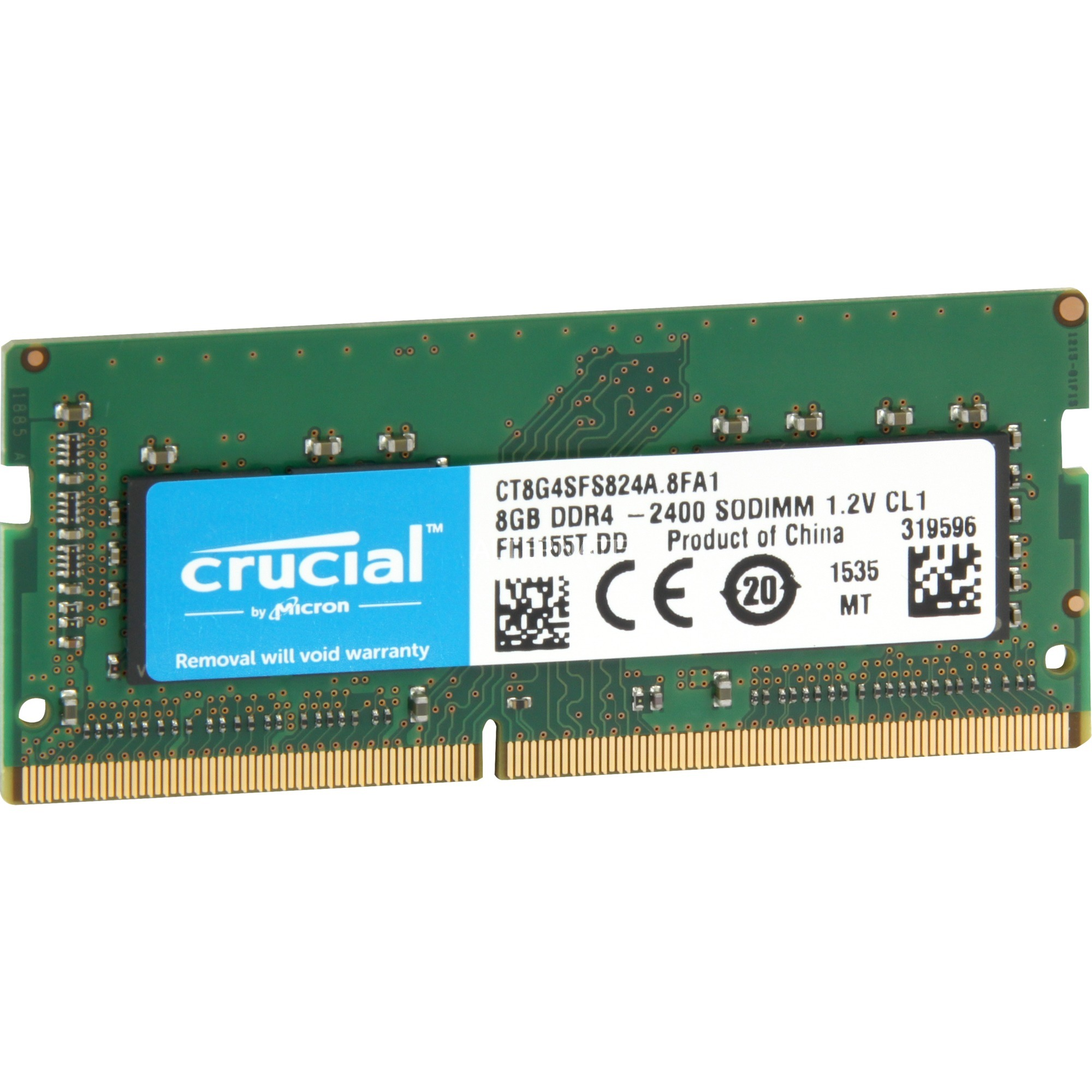 CRUCIAL 8GB 2400MHz DDR4 NOTEBOOK RAM CT8G4SFS824A