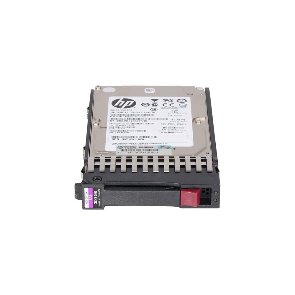 "HP 627117-B21 300GB 15K 2.5"" 6G SAS HOTPLUG HDD"