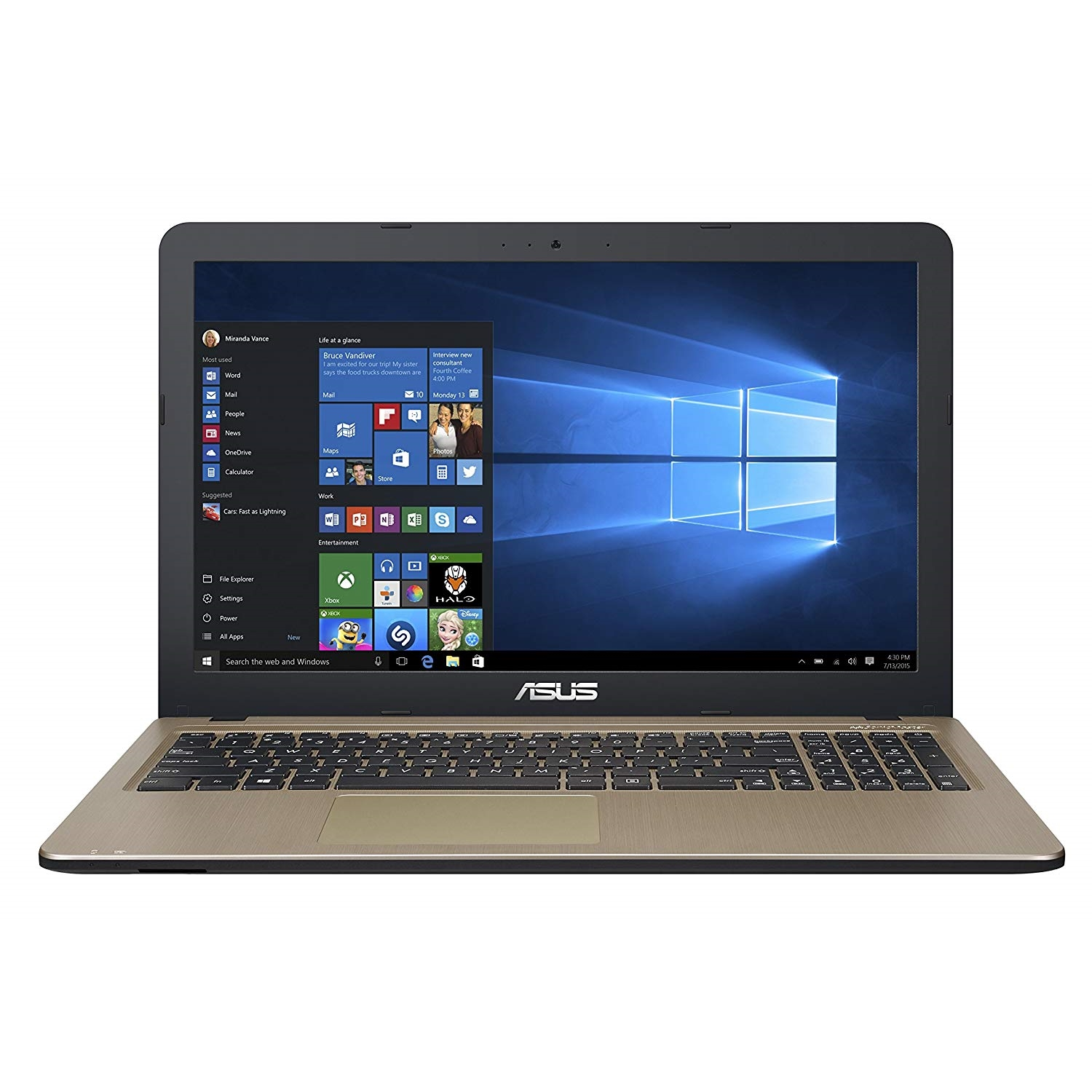 "ASUS X540MA-GO072 N4000 4GB 500GB O/B VGA 15.6"" FREEDOS NOTEBOOK"