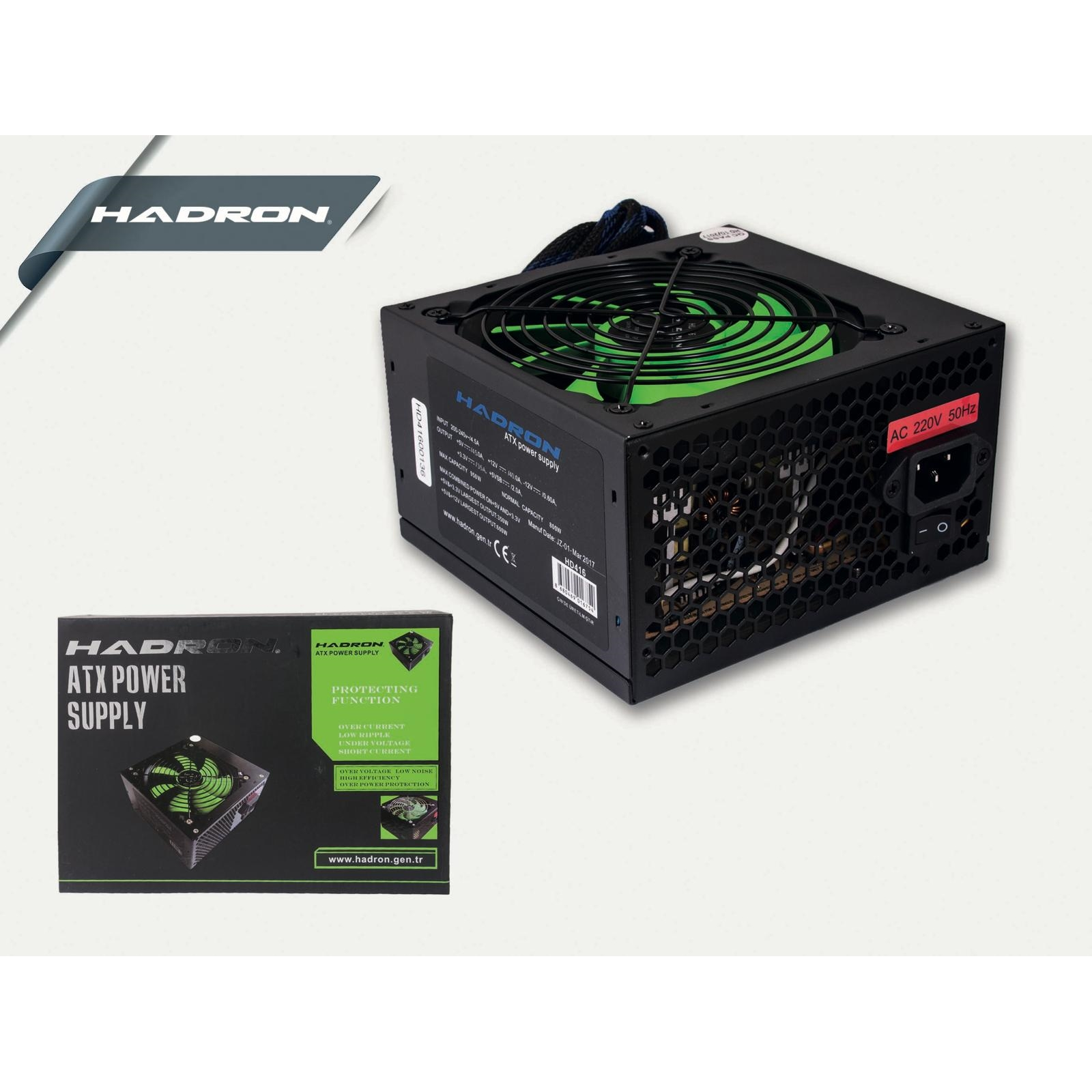 HADRON HD412/10 500W 12cm FANLI POWER SUPPLY KUTULU