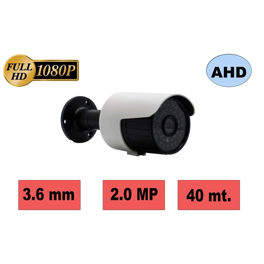 HBF 803-M2 2MP 3.6MM 36 IR LED AHD METAL KASA GECE GÖRÜŞLÜ KAMERA