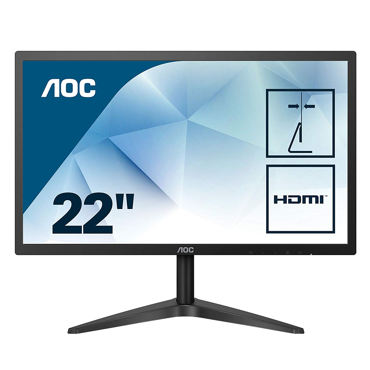 "AOC 22B1HS 21.5"" 5MS 1920x1080 VGA/HDMI SİYAH IPS LED MONITOR"