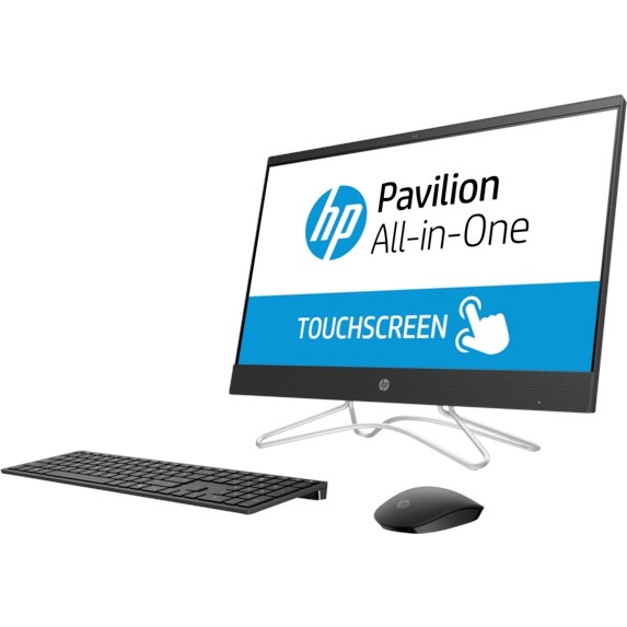 "HP 24-F0019NT 4MZ00EA i5-8250 8GB 1TB O/B VGA 23.8"" FHD IPS DOKUNMATİK FREDOOS SIYAH ALL IN ONE PC"