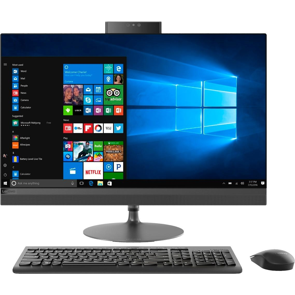 "LENOVO 520 F0DJ00JTTX I5-8400 16GB 512SSD O/B VGA 23.8"" FHD NONTOUCH FREEDOS ALL IN ONE PC"
