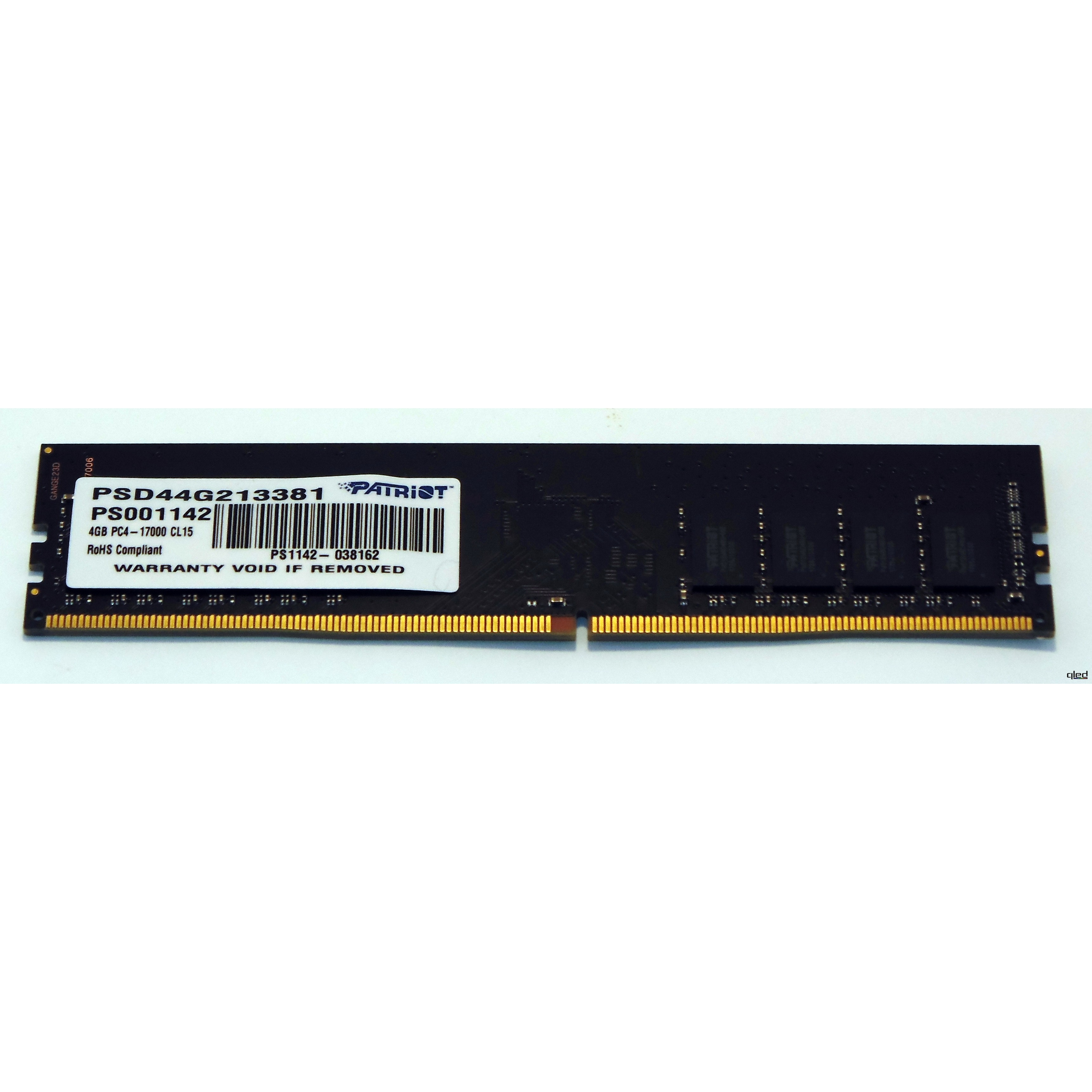 PATRIOT 4GB 2133MHz DDR4 BULK PATPC2133-4 PC RAM