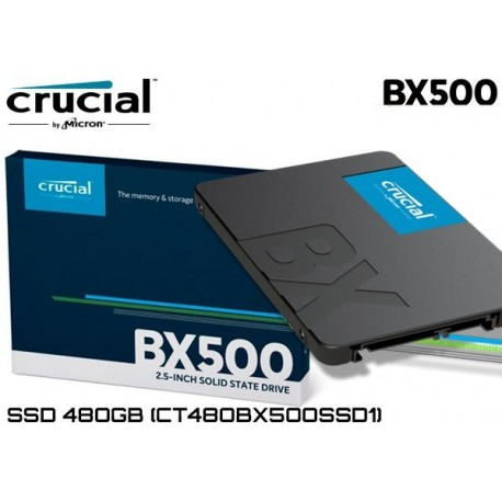 CRUCIAL BX500 480GB 540/500MB/s 7mm SATA 3.0 SSD CT480BX500SSD1