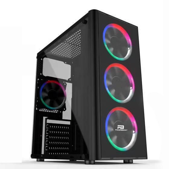 POWER BOOST VK-G2080C 4x12CM FAN MIDI TOWER PENCERELİ USB3.0 SİYAH KASA