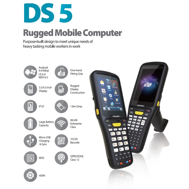 "DSIC DS5  3.5"" LCD WIFI/BLUETOOTH/ Windows CE.NET 6.0 BARKOD OKUYUCU EL TERMİNALİ EL TERMİNALI"