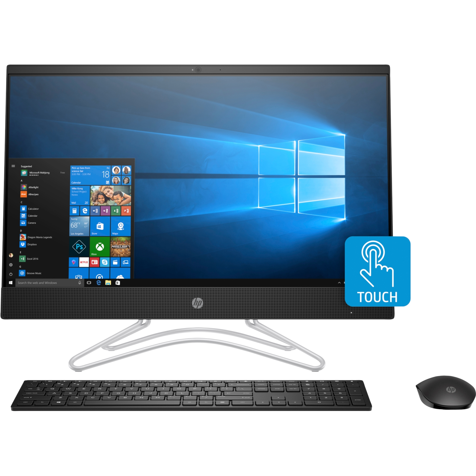 "HP 24-F0044NT 8UF45EA i5-9400 8GB 128SSD+1TB 2GB MX110 23.8"" FHD DOKUNMATİK FREDOOS SIYAH ALL IN ONE PC"