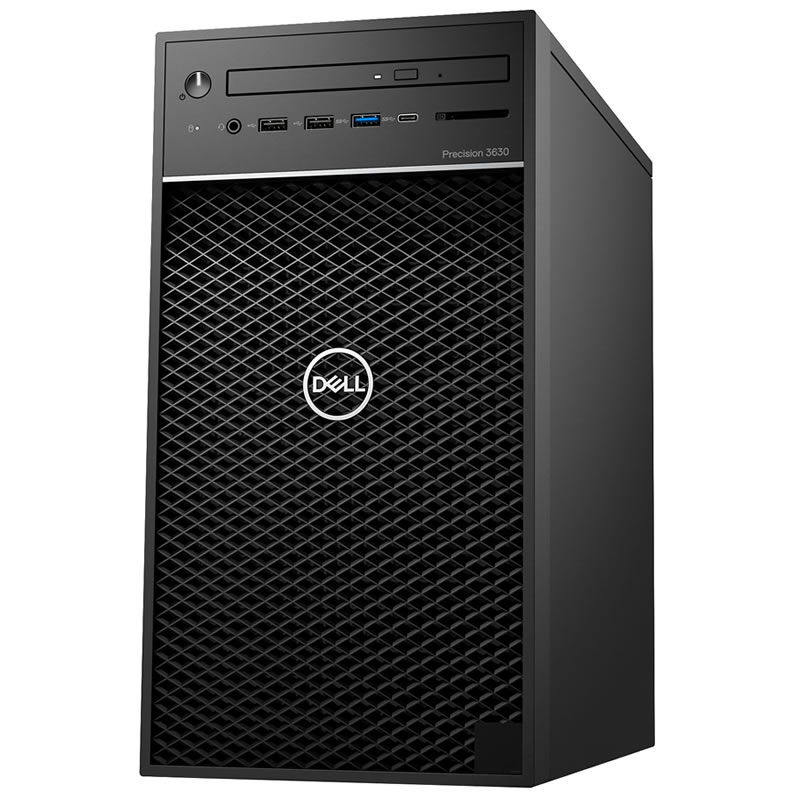 DELL PRECISION T3630-DELTAv2 E-2224 1x8GB 256GB SSD 2GB QUADRO P620 460W WIN10 PRO WORKSTATION