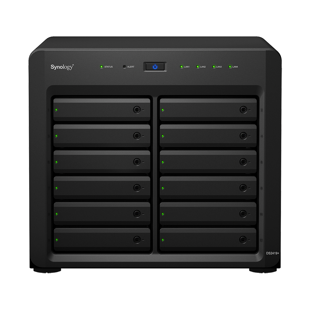 SYNOLOGY DS2419PLUS 4GB 12 BAY 4xGLAN NAS DEPOLAMA ÜNİTESİ