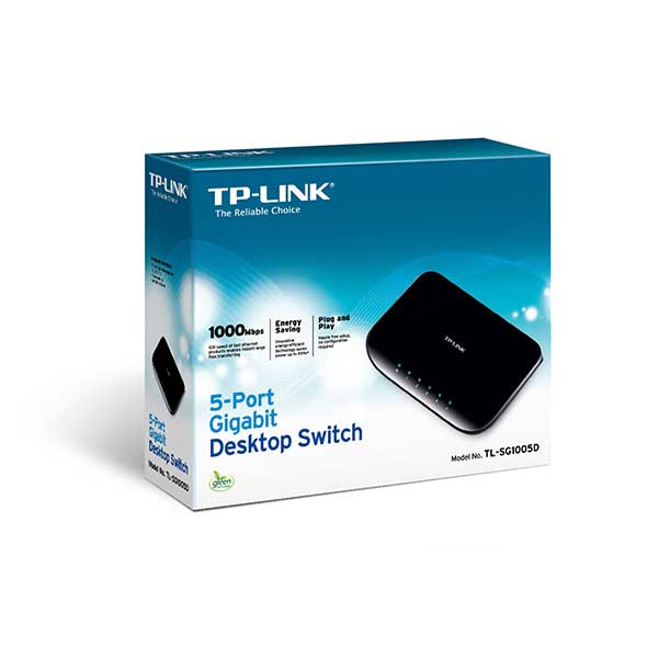 TP-LINK TL-SG1005D 5 PORT 10/100/1000 FAST ETHERNET DESKTOP SWITCH