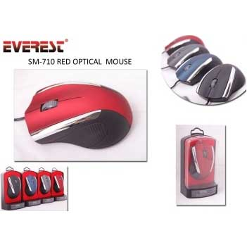 EVEREST SM-710 USB 800 DPI KIRMIZI MOUSE