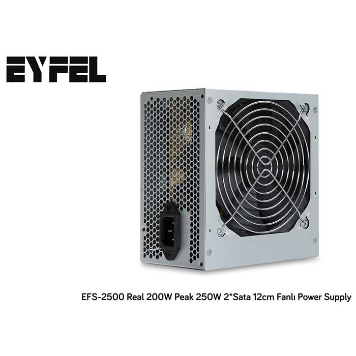 EYFEL EFS-2500 250W 12cm FANLI POWER SUPPLY 2xSATA