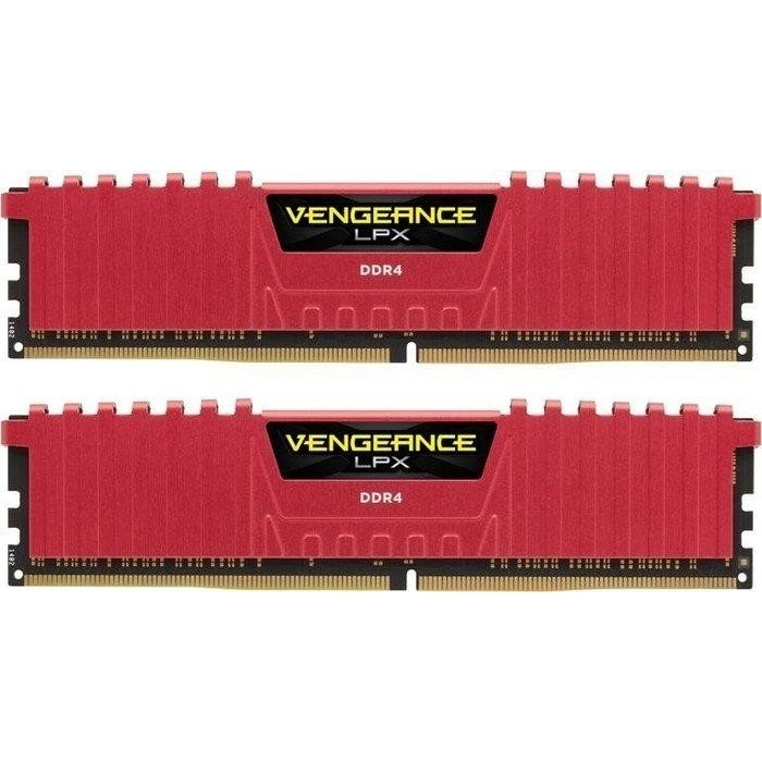 CORSAIR 16GB (2x8GB) 3000MHz DDR4 CMK16GX4M2B3000C15R VENGEANCE RED PC RAM
