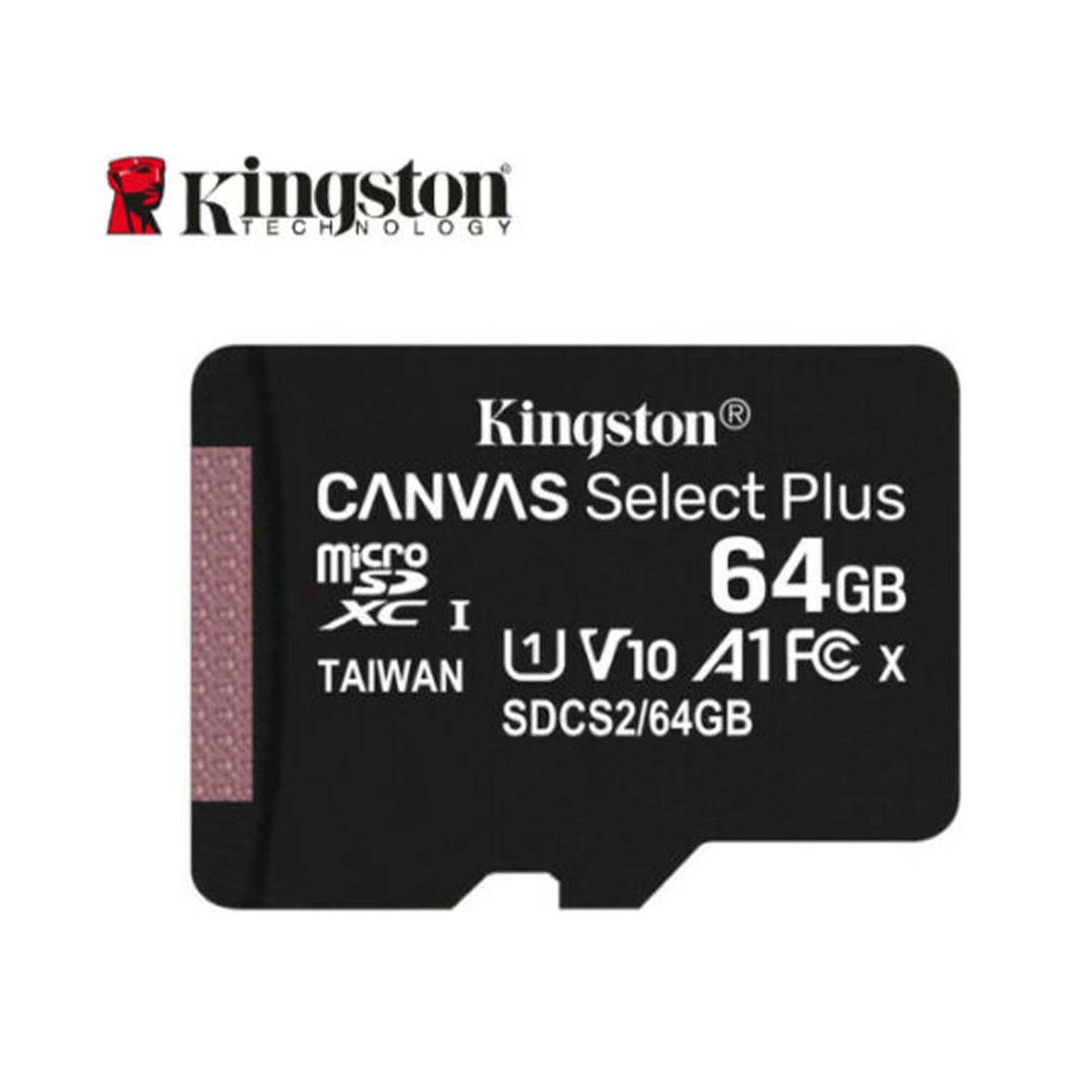 KINGSTON CANVAS SELECT PLUS 64GB MICRO SDHC CLASS10 UHS-I 80MB/s HAFIZA KARTI SDCS2-64GB